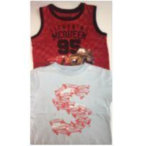Kit c/2 peças - T-Shirt + Regata MC QUEEN - 3 anos - OshKosh e Disney