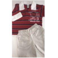 Conjunto c/2 peças - Camisa 2 em 1 + Calça Sarja - 3 anos - Anuska e Have Fun