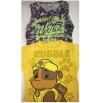Kit c/2 peças - T-Shirt Ruble Patrulha Canina + Regata - 3 anos - Costão e sem etiqueta