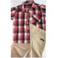 Conjunto c/2 peças - Camisa Xadrez + Calça Sarja NAUTICA - 3 anos - Nautica e Mothercare