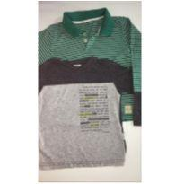 Kit c/2 peças - Camisetas ML - 3 anos - Alakazoo! e sem etiqueta