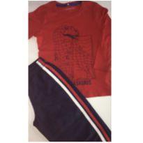 Conjunto c/2 peças - Camiseta ML + Calça Tactel - 3 anos - sem etiqueta