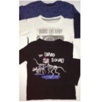 Kit c/3 Camisetas de Manga Longa - 1 ano - Poim e Up Baby