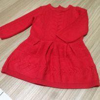 Vestido vermelho janie e jackie - 9 a 12 meses - Janie and Jack