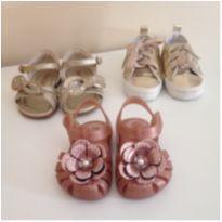Três calçados 18 - 18 - Pampili e Zaxy