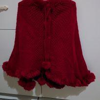 Poncho vermelho lindo - 12 a 18 meses - Não informada