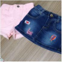 Saia e short jeans - 9 a 12 meses - Carter`s e Outras
