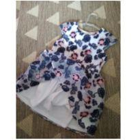 Vestido bordado flores - 1 ano - Não informada