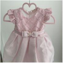 Vestido acetinado Petit Cherie - 3 a 6 meses - Petit Cherie