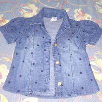 Camisa de botão feminina - 9 meses - Baby Gijo