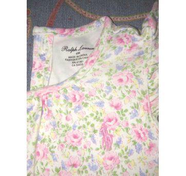 Vestidinho  florido - 6 meses - Ralph Lauren