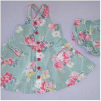 Vestido floral Ralph Lauren - 9 meses - Ralph Lauren