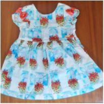 Vestido flores Alphabeto - 9 a 12 meses - Alphabeto