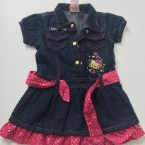 Vestido Jeans Hello Kitty - 18 a 24 meses - Hello Kitty by Sanrio