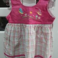 Vestido Rosa com decote - 3 a 6 meses - Menina Bonita