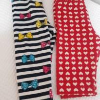 Kit calças e bermuda lacinho e coração - 3 a 6 meses - Milon