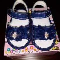 Sandália  azul marinho verniz - 16 - Kito baby