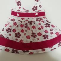 Vestido de flores - 3 a 6 meses - Não informada