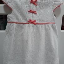 Vestido Branco de Lese /lacinho - 12 a 18 meses - Zara