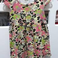 Vestido Oncinha Colorida - 6 a 9 meses - Elian