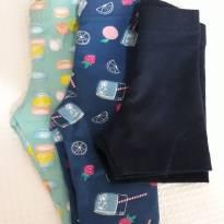 Combo/ Kit 2 Bermudas + 1 shorts Verão - 3 a 6 meses - Açucena