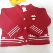 Casaquinho vermelho - 3 a 6 meses - Lili Baby