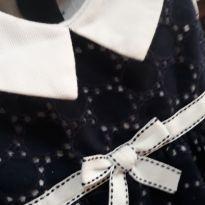 Vestido sofisticado azul e branco lese / festa - 1 ano - Não informada