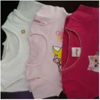 Kit 3 blusas/ bata lindaaaas - 12 a 18 meses - `Milon e outro