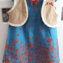 Vestido com colete corações - 12 a 18 meses - Alphabeto