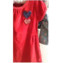 Vestido veludinho vermelho - 18 meses - Kyly