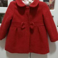 Casaco / sobretudo vermelho Zara - 12 a 18 meses - Zara