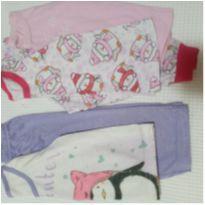 Combo / kit pijama 2 calças + 3 camisetas - 12 a 18 meses - Não informada