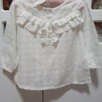 Camisa/ Bata Off White - 12 a 18 meses - Baby Club