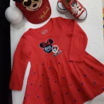 Vestido + Boné Minnie Disney - 2 anos - Disney