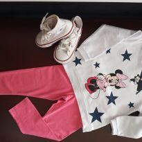 Conjunto moletom e legging Minnie