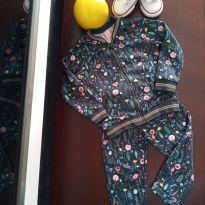 Conjunto jaqueta + calça Flores lindooo - 3 anos - Lilica Ripilica