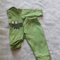 Body e Calça Jacaré Verde