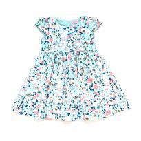 Vestido Azul e Rosa Momi - 4 anos - Momi