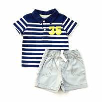 Conjunto Camiseta Listrada e Short Carter's
