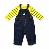 Conjunto Camiseta e Jardineira Jeans Just One You by Carter`s - 6 meses - Carter`s