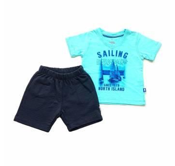 Conjunto Camiseta e Bermuda em Moletom PUC - 6 meses - PUC