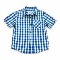Camisa Manga Curta Azul e Verde Zara - 3 anos - Zara