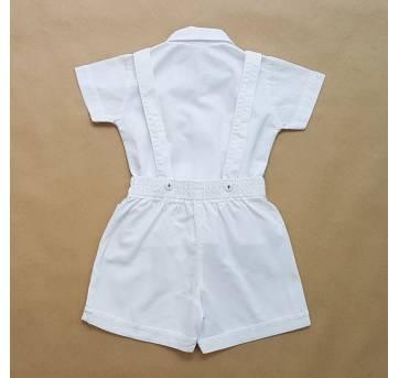 Conjunto Branco Batizado Sylvaz Confecções - 3 meses - Sylvaz