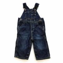 Jardineira Jeans Baby GAP - 9 a 12 meses - Baby Gap
