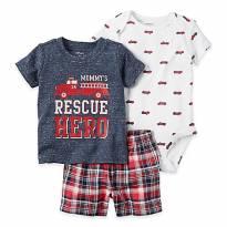 Conjunto Body Short Camiseta Carter's - 3 meses - Carter`s