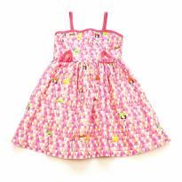 Vestido sem Manga Rosa Alphabeto - 3 anos - Alphabeto