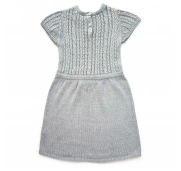 Vestido em Lã Cinza Renner - 3 anos - Renner