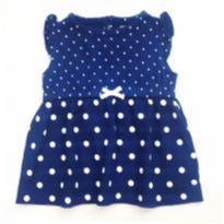Vestido Azul Poá Carter`s - 3 meses - Carter`s