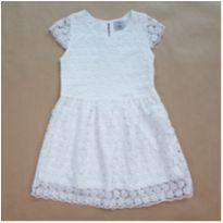 Vestido em Renda Branco Fuzarka - 8 anos - Fuzarka
