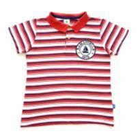 Camisa Polo Listrada Vermelha, Branca e Azul PUC - 6 anos - PUC